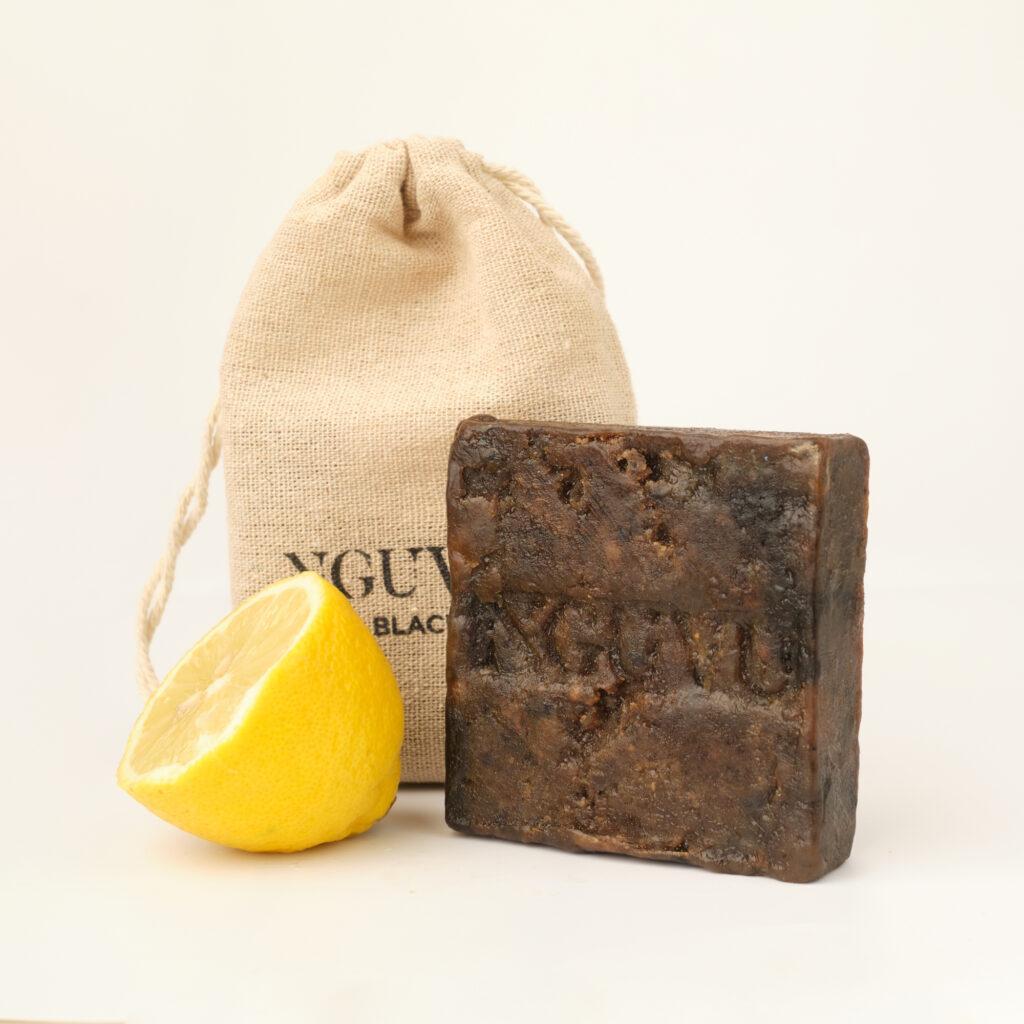 150g Lemon Fresh Ghana Black Soap