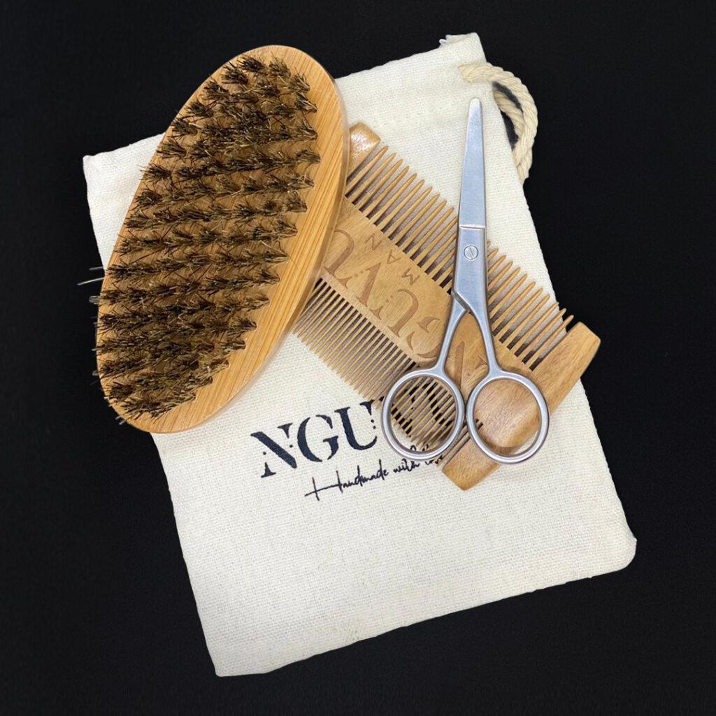 Men's Wooden Comb Set